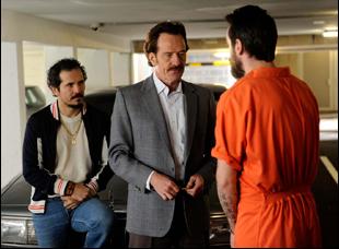 """John Leguizamo and Bryan Cranston in """"The Infiltrator"""""""