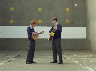"Fionn O'Shea and Nicholas Galitzine in ""Handsome Devil"""