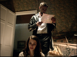 "Joe Anderson and Jessica Lowndes in Darren Lynn Bousman's ""Abattoir"""