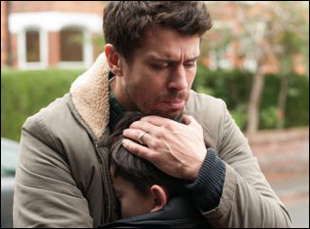 """Toby Kebbell and Lewis MacDougall in """"A Monster Calls"""""""
