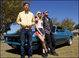 "Tye Sheridan, Bel Powley and Emory Cohen in ""Detour"""