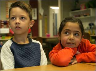 "Branche and Haya in ""Miss Kiet's Children"""