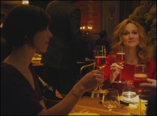 "Laura Linney and Rebecca Hall in ""The Dinner"""