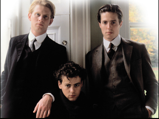 """James Wilby, Rupert Graves and Hugh Grant in """"Maurice"""""""