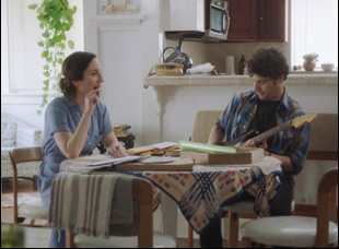 "Zoe Lister Jones and Adam Pally in ""Band Aid"""