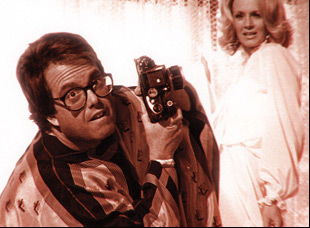"""Allan Carr and Angie Dickinson in """"The Fabulous Allan Carr"""""""