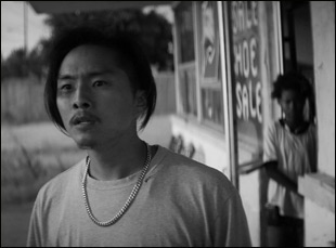"Justin Chon and Simone Baker in ""Gook"""