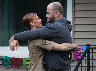 "Kate Nowlin and Chris Sullivan in ""Blood Stripe"""