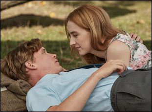 """Billy Howle and Saoirse Ronan in """"On Chesil Beach"""""""