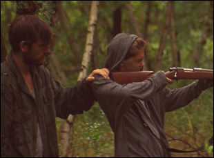 """Alex Pettyfer and James Freedson-Jackson in """"The Strange Ones"""""""