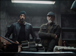 "John Malkovich and Adrien Brody in ""Bullet Head"""