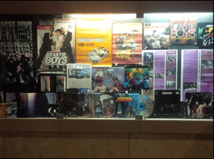 Beastie Boys display at the Egyptian Theater