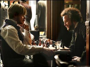 """August Diehl and Stefan Konarske in """"The Young Karl Marx"""""""