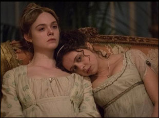 "Elle Fanning and Bel Powley in ""Mary Shelley"""