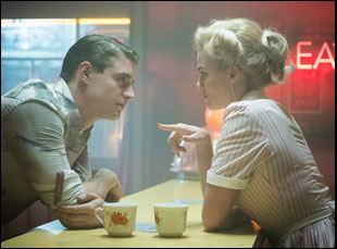 "Max Irons and Margot Robbie in ""Terminal"""