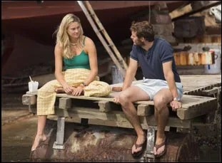 "Shailene Woodley and Sam Claflin in ""Adrift"""