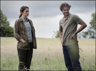 "Mark Stanley and Ruth Wilson in ""Dark River"""