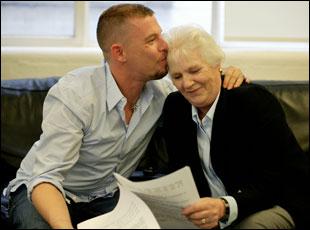 """Lee McQueen and his mother in """"McQueen"""""""