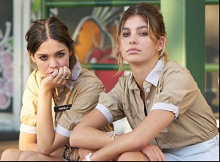"Maia Mitchell and Cami Morrone in ""Never Goin' Back"""