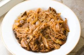 vermicelli with mushroom tomato sauce