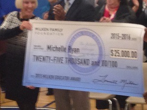 Town of Randolph High School Teacher Wins an Unrestricted Educator's Award Check of $25,000.