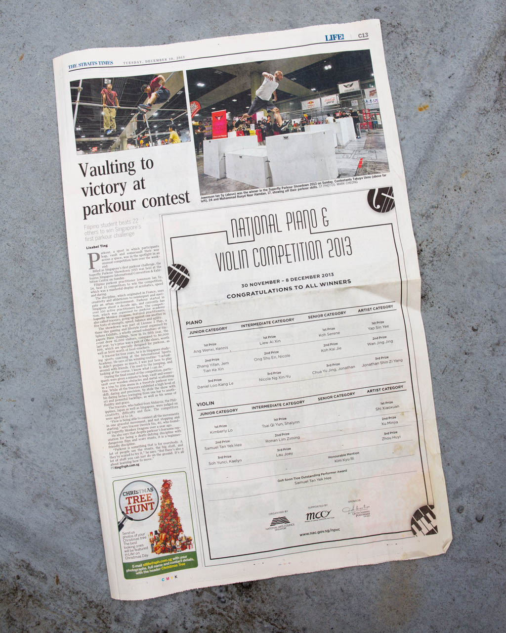 Straits Times NYC Jump Asia Feature