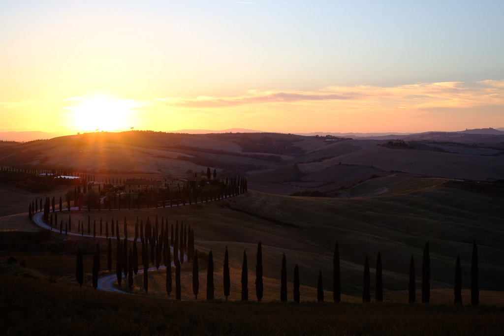 val d'orcia tramonto