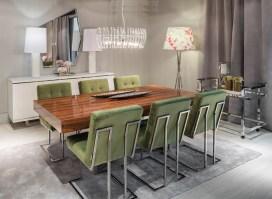 Mobiliário de sala de jantar com inox