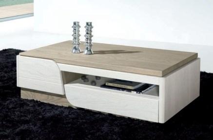Mesa de Centro em madeira cor branco e cinza. Personalizamos ao seu gosto e estilo.