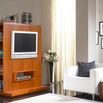 Móvel TV em cerejeira. Personalizamos os acabamentos e as dimensões.
