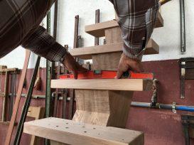 Escada em execução na nossa fábrica.