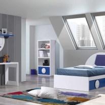 Quarto Juvenil em lacado branco e azul. Personalizamos o nosso mobiliário, contacte-nos!