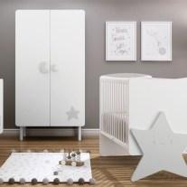 Mobiliário para bebé em lacado branco e cinza. Visite-nos e conheça a nossa colecção de mobiliário para bebé!