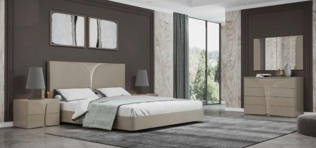 Quarto Casal em carvalho e lacado alto brilho creme. Transforme o seu quarto num Quarto de Sonho!