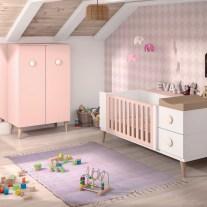 Mobiliário para bebé em lacado branco e rosa. Visite-nos e conheça a nossa colecção de mobiliário para bebé!