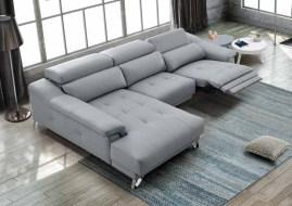 Sofá chaiseloungue com relax eléctrico.