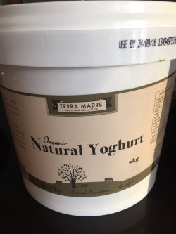 Natural organic yoghurt from Terra Madre