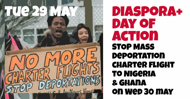 Diaspora+ Day of Action Calling on Nigerian & Ghanaian Governments to Stop Wednesdays Charter Flight!
