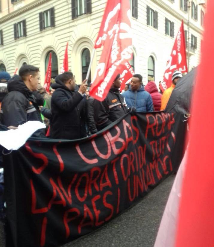 Roma 24.02.18: Manifestazione Nazionale contro Sfruttamento, Razzismo e Repressione