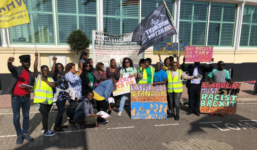 MFJ Demonstrate at Labour Party Conference
