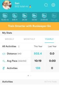 500 mile goal