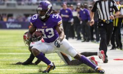 Sep 24, 2017; Minneapolis, MN, USA; Minnesota Vikings running back Dalvin Cook (33) carries the ball during the first quarter against the Tampa Bay Buccaneers at U.S. Bank Stadium. Mandatory Credit: Brace Hemmelgarn-USA TODAY Sports