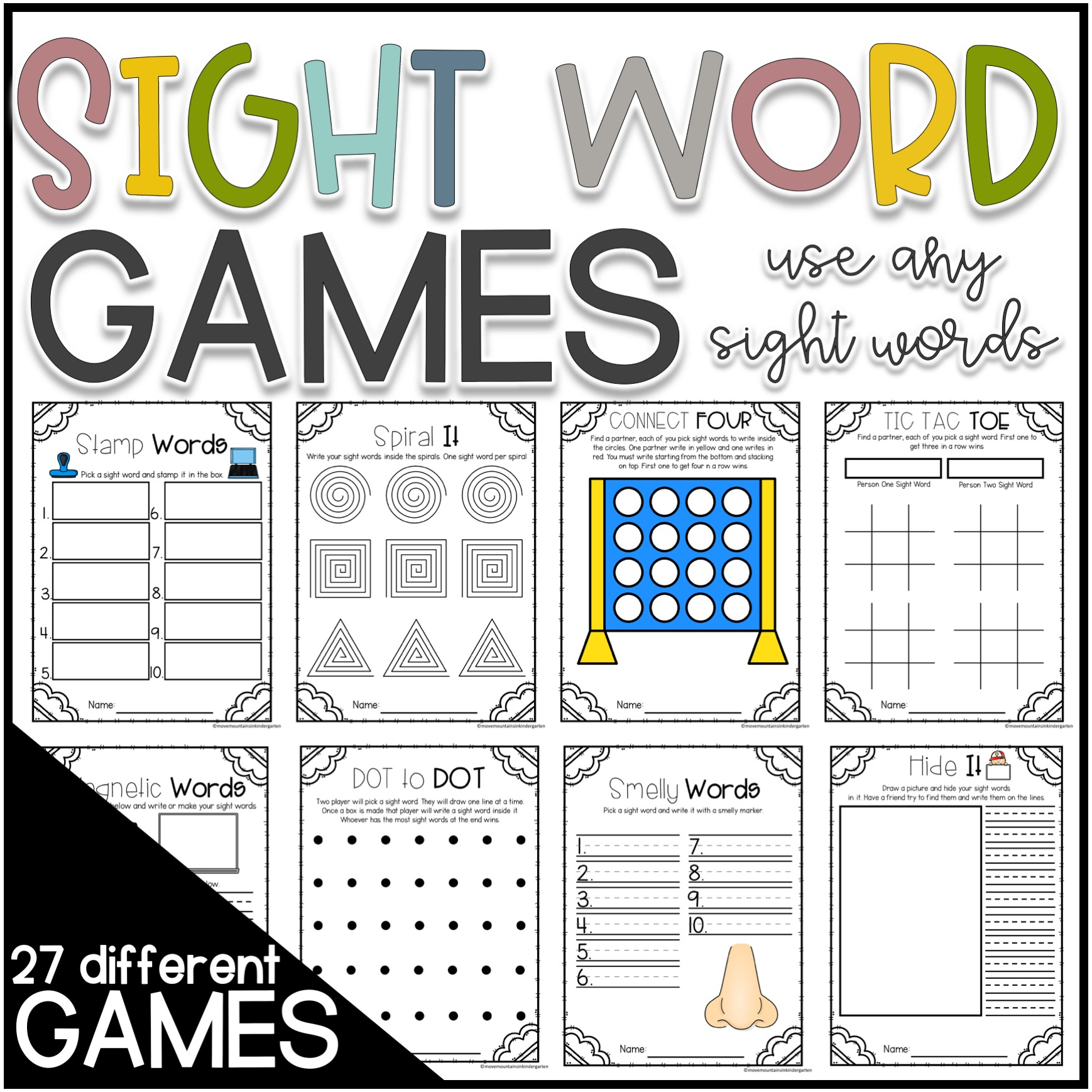 small resolution of Sight Word Practice Worksheets   Move Mountains in Kindergarten