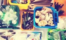 Getrenntes Abfall vor dem Umzug