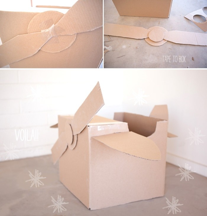 diy basteln mit umzugskartons 8 nette ideen. Black Bedroom Furniture Sets. Home Design Ideas