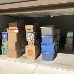 Picture of Movers and Movers perfectly stocked boxes by sizes