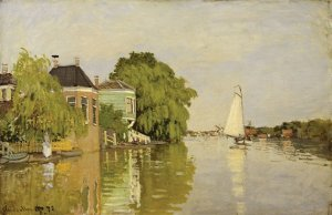 Claude Monet, Houses on the Achterzaan, 1871, oil on canvas. The Metropolitan Museum of Art, New York