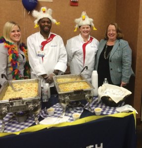 Chrissy Lager, chef Kelvin Ranford, chef Emilie Feldhues, and Pat Davis-Hagens, Mercy Health Central Market CEO and President of The Jewish Hospital – Mercy Health