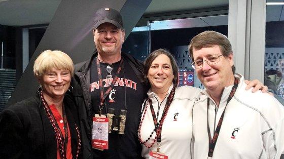 Beth Sininger Flege, her husband Tom Flege and step-daughter Chris Flege Zimmer