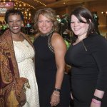 Kathy Wade, a 2007 Dancing for the Stars alum, Jeanette Altenau of event sponsor TriHealth, and Laura Altenau